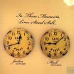 Personalised 'In these moments, time stood still' ~ Wall sticker / decals